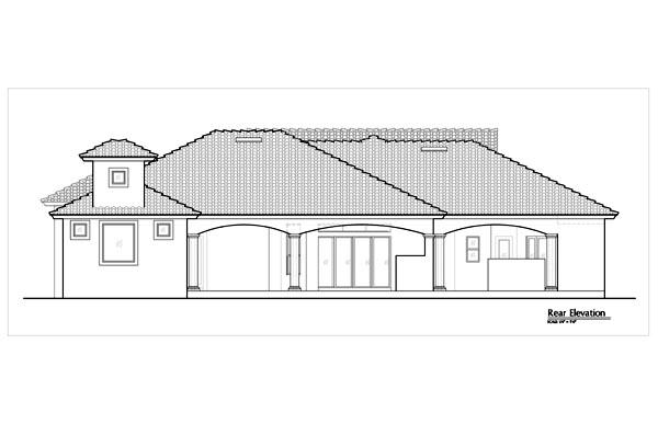 Mediterranean House Plan 74276 Rear Elevation