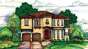 Mediterranean House Plan 74281 Elevation
