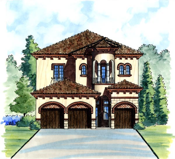 Italian House Plan 74283 Elevation