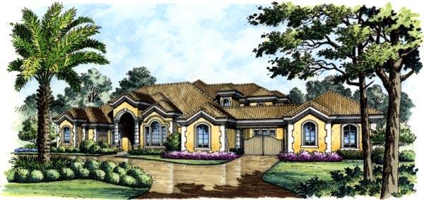 Mediterranean House Plan 74284 Elevation