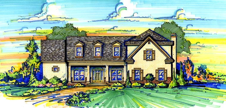 Traditional House Plan 74291 Elevation