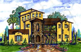 House Plan 74296 Elevation