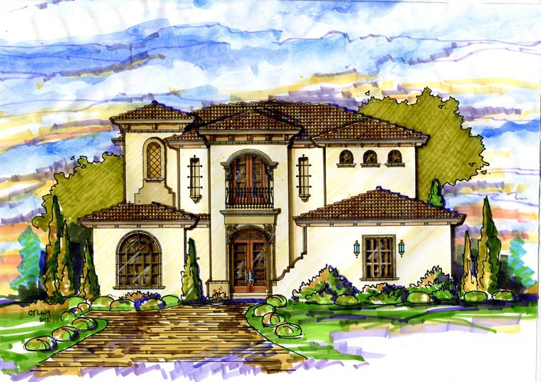 Mediterranean House Plan 74297 Elevation