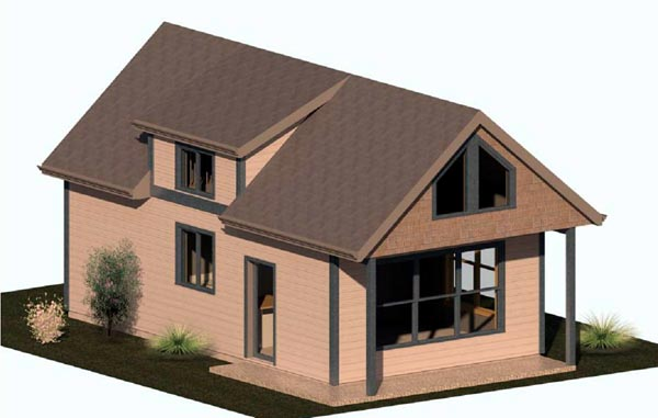 Cabin House Plan 74300 Elevation