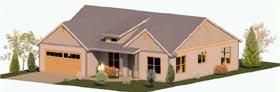 Coastal Craftsman Ranch House Plan 74303 Elevation