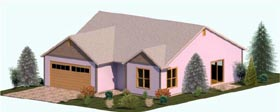 Cottage Country Craftsman Ranch House Plan 74304 Elevation