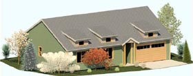 Cottage Ranch House Plan 74308 Elevation