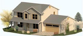 Colonial Country Farmhouse Traditional House Plan 74312 Elevation