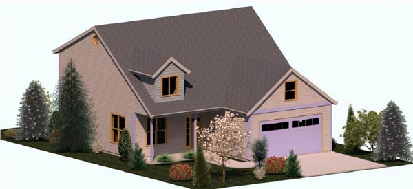 Cape Cod Coastal Country Farmhouse House Plan 74313 Elevation