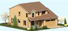 Colonial Country Farmhouse Traditional House Plan 74316 Elevation