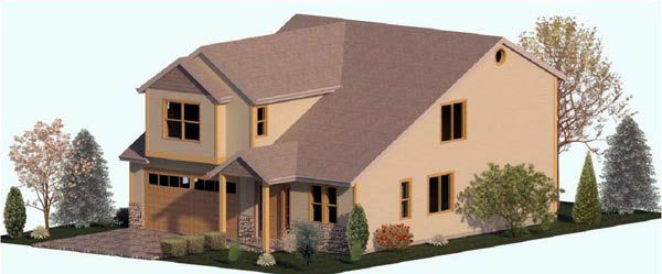 Country, Farmhouse, Traditional House Plan 74319 with 3 Beds, 3 Baths, 2 Car Garage Front Elevation