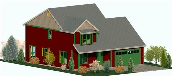 Cape Cod Country Craftsman Farmhouse Traditional House Plan 74321 Elevation
