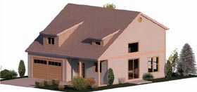 Cape Cod Coastal Country Farmhouse Traditional House Plan 74322 Elevation