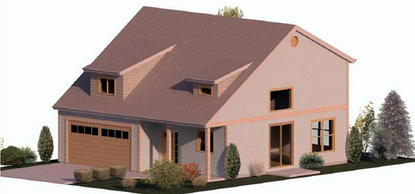 Cape Cod, Coastal, Country, Farmhouse, Traditional House Plan 74322 with 3 Beds, 2 Baths, 2 Car Garage Elevation