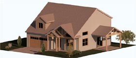 Cape Cod Coastal Country Craftsman Farmhouse Traditional House Plan 74324 Elevation