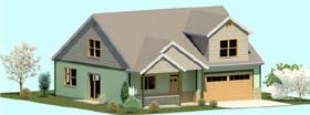 House Plan 74325 | Cape Cod Coastal Country Craftsman Farmhouse Traditional Style Plan with 2095 Sq Ft, 3 Bedrooms, 3 Bathrooms, 2 Car Garage Elevation