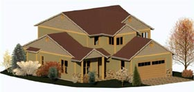 Coastal Country Craftsman Traditional House Plan 74326 Elevation