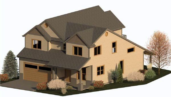 Country Craftsman Traditional House Plan 74329 Elevation