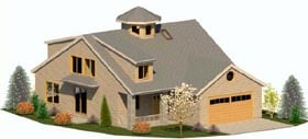 House Plan 74331 | Cape, Cod, Coastal Style House Plan with 2165 Sq Ft, 4 Bed, 3 Bath, 2 Car Garage Elevation