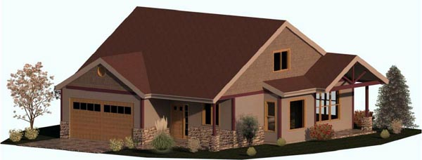 Cape Cod Coastal Country Craftsman House Plan 74333 Elevation
