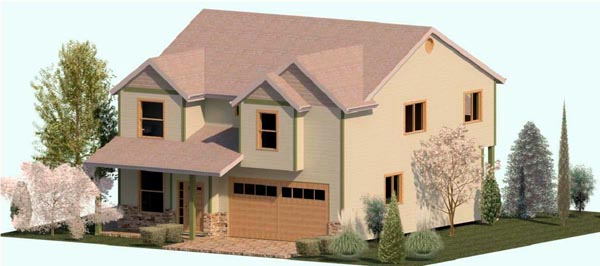 Country , Farmhouse , Traditional , Elevation of Plan 74335
