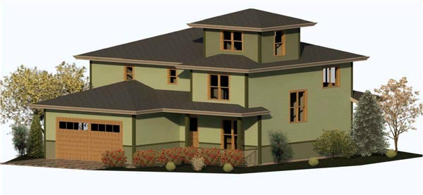 Mediterranean, Traditional House Plan 74336 with 3 Beds, 3 Baths, 2 Car Garage Elevation