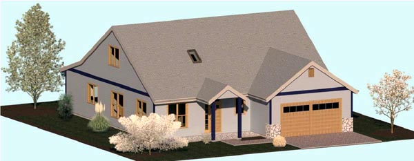 Coastal Country Craftsman House Plan 74338 Elevation