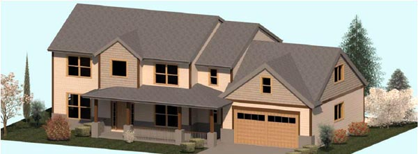 Colonial, Country, Farmhouse, Traditional House Plan 74342 with 3 Beds, 3 Baths, 2 Car Garage Elevation