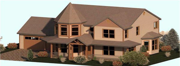 Country, Farmhouse, Victorian House Plan 74343 with 3 Beds , 3 Baths , 2 Car Garage Elevation