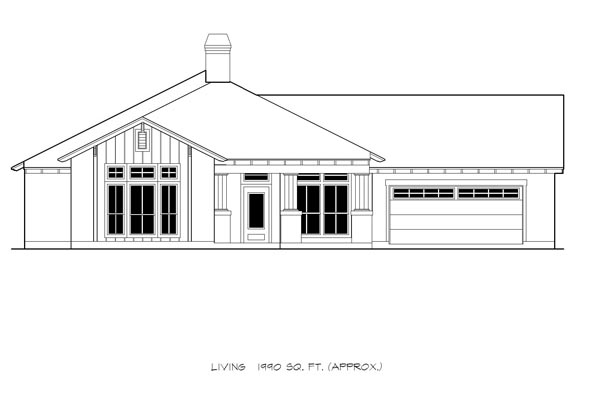 Country Craftsman Ranch House Plan 74500 Elevation
