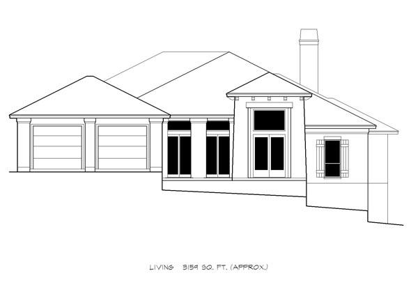 Mediterranean House Plan 74501 with 4 Beds, 4 Baths, 2 Car Garage Picture 2