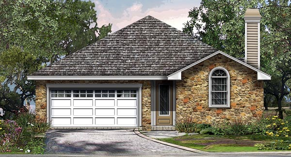House Plan 74503 | Cottage Traditional Style Plan with 1769 Sq Ft, 3 Bedrooms, 2 Bathrooms, 2 Car Garage Elevation