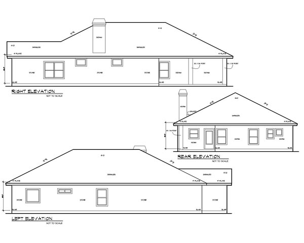 Cottage, Traditional House Plan 74503 with 3 Beds, 2 Baths, 2 Car Garage Picture 1