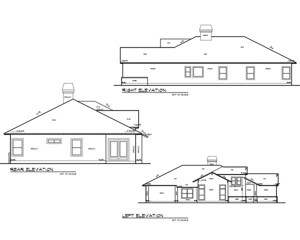 Cottage, Country, Craftsman House Plan 74504 with 3 Beds, 2 Baths, 2 Car Garage Picture 1