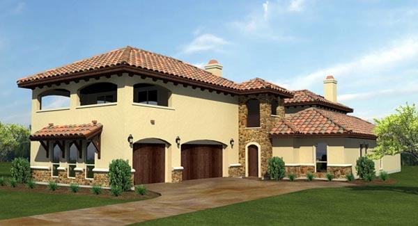 Mediterranean House Plan 74505 Elevation