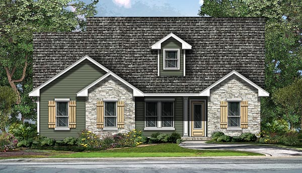 Ranch , Southwest , Traditional , Elevation of Plan 74508