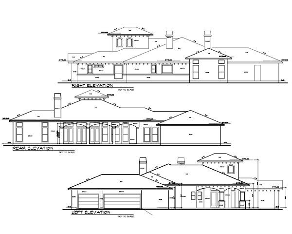Mediterranean House Plan 74509 with 4 Beds, 3 Baths, 3 Car Garage Picture 1