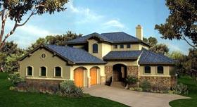 Mediterranean House Plan 74512 with 3 Beds, 3 Baths, 2 Car Garage Elevation