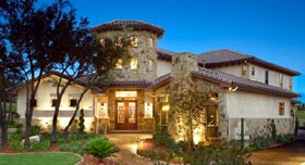 Italian Mediterranean Tuscan House Plan 74514 Elevation