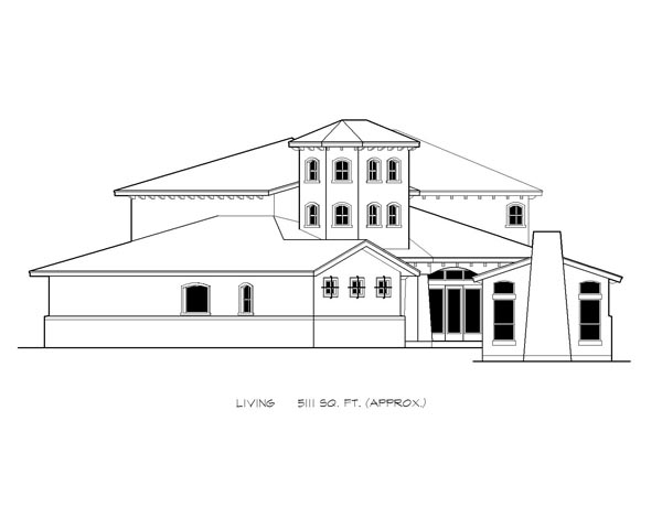 Italian, Mediterranean, Tuscan House Plan 74514 with 4 Beds, 6 Baths, 3 Car Garage Picture 2