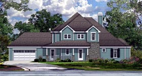 Cottage Country Craftsman House Plan 74515 Elevation