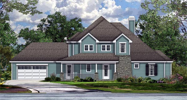 House Plan 74515 | Cottage Country Craftsman Style Plan with 3043 Sq Ft, 4 Bedrooms, 5 Bathrooms, 2 Car Garage Elevation
