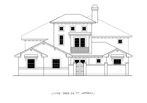 Mediterranean House Plan 74518 with 4 Beds, 4 Baths, 3 Car Garage Picture 2