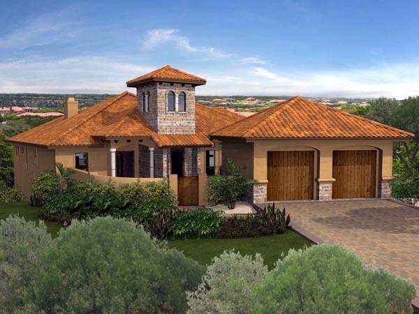 Mediterranean House Plan 74520 Elevation
