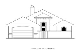 House Plan 74523 | Mediterranean Style Plan with 2285 Sq Ft, 3 Bedrooms, 3 Bathrooms, 2 Car Garage Elevation