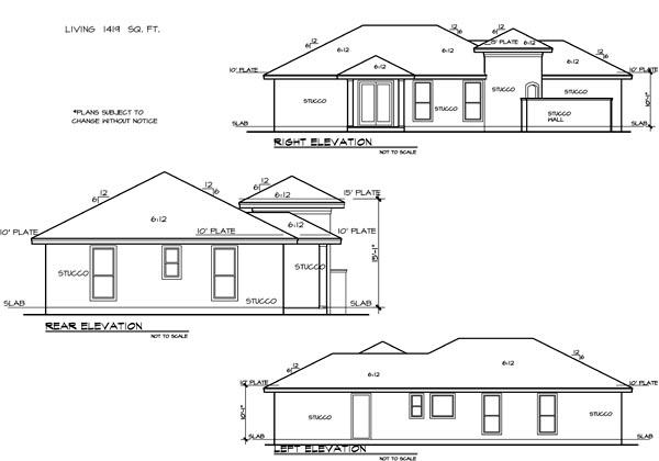 Mediterranean House Plan 74527 with 3 Beds, 2 Baths, 2 Car Garage Picture 1