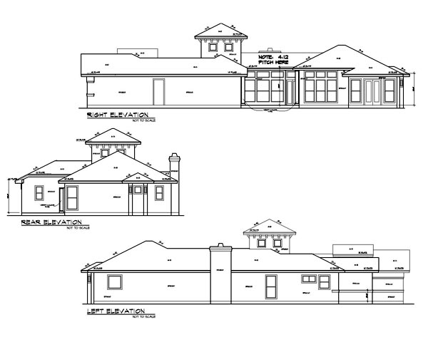 Mediterranean House Plan 74535 with 4 Beds, 4 Baths, 2 Car Garage Picture 1