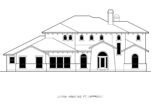 Mediterranean House Plan 74536 with 4 Beds, 4 Baths, 3 Car Garage Picture 2