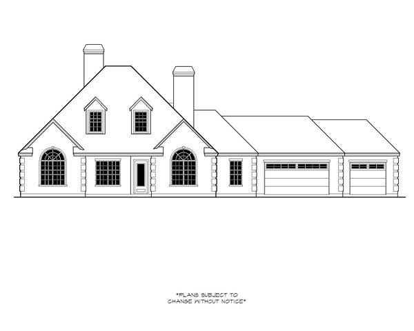 Colonial European House Plan 74537 Elevation