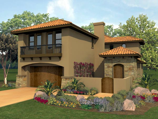 Mediterranean House Plan 74540 Elevation
